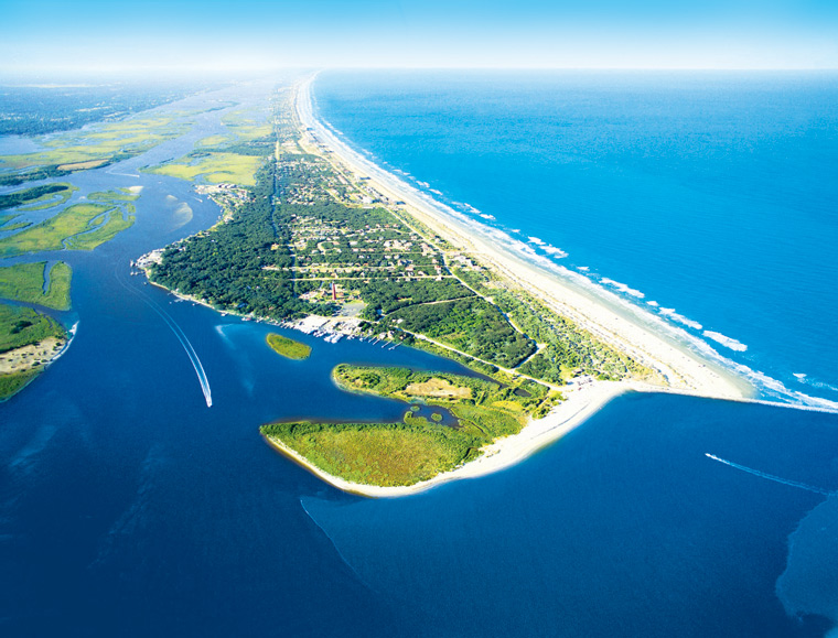 "Aerial image of Ponce Inlet real estate for ""View More"" button."